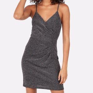 Express Metallic Pleated Mini Cami Dress S NWOT